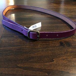 Gap Purple Skinny Leather Belt - Small